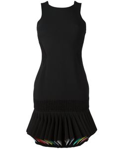 CAPUCCI | Pleated Hem Dress 44 Viscose/Acetate/Spandex/Elastane/Silk