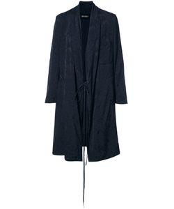 UMA WANG | Jacquard Coat Large Cupro/Viscose/Wool