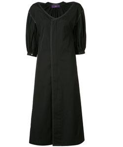 Y'S   Gathe Detail Midi Dress 1 Cotton
