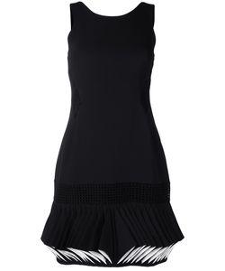 CAPUCCI   Abito Folded Hem Dress 44 Silk/Cotton/Polyester/Viscose