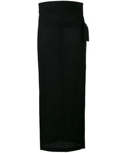 Ann Demeulemeester | Side Slit Midi Skirt 36 Virgin