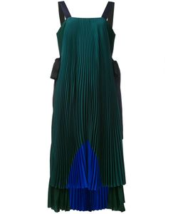 Fendi | Colour-Block Pleated Dress