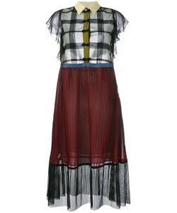 Marco De Vincenzo | Sheer Pleated Short Sleeve Dress 40