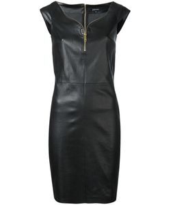 Jitrois | Zip Trim Mini Dress 40 Leather/Cotton/Spandex/Elastane
