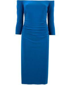 Norma Kamali   Off-Shoulders Shirred Waist Dress Size Large