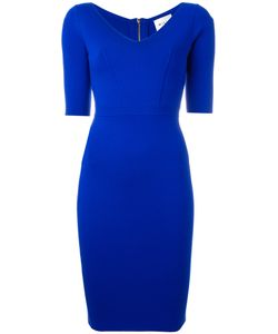 Milly | Fitted V-Neck Dress Size