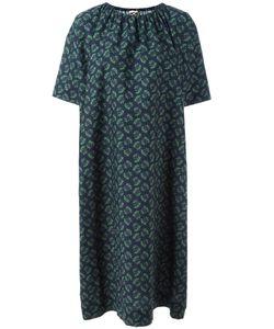 Hache | Gathe Neck Shift Dress 44 Cotton