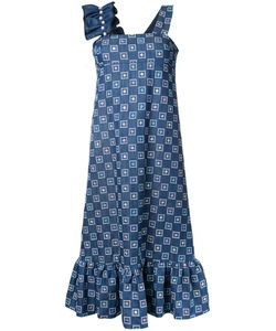 Huishan Zhang | Embroide Denim Dress 10 Cotton/Polyester