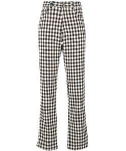 WALES BONNER | Checked Regular Trousers Women