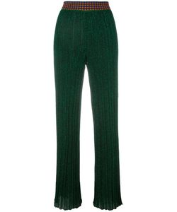 Missoni | Pleated Trousers 38 Polyester/Cupro/Viscose