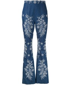 Huishan Zhang | Embroide Fla Jeans 10 Cotton