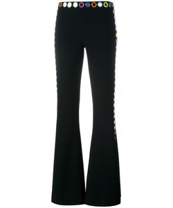 Moschino | Mirror Embroide Fla Trousers 44 Polyester/Triacetate/Plastic
