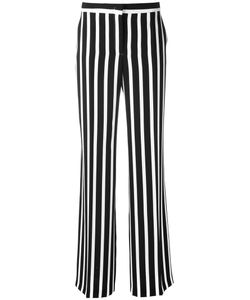 Alberta Ferretti | Striped Wide Leg Trousers 40 Acetate/Rayon/Polyester