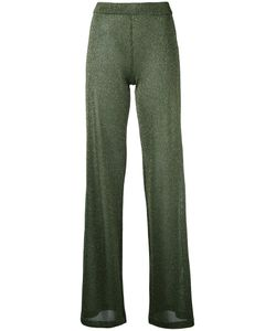 Roberto Collina | Lame Shiny Trousers Large Polyester/Viscose