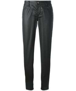 Just Cavalli | Leather Effect Trousers 29 Cotton/Lyocell/Spandex/Elastane