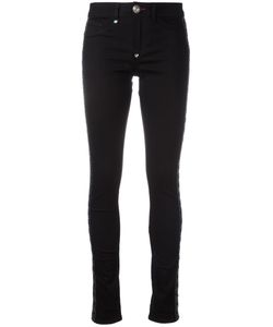 Philipp Plein | Lace Up Jeans 28 Cotton/Polyester/Spandex/Elastane