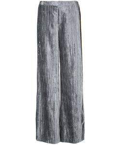Irene | Stripe Detail Velvet Trousers