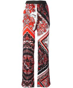 Just Cavalli | Paisley Patterned Trousers 46 Viscose/Polyester