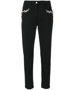 Twin-set | Embellished Pockets Slim-Fit Trousers