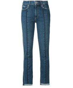 Paige | Raw Hem Cropped Jeans 26 Cotton/Polyester/Spandex/Elastane