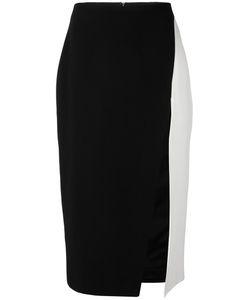 David Koma   Contrast Pencil Skirt 10 Acrylic/Spandex/Elastane/Viscose/Lyocell
