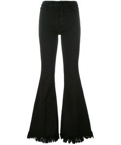 Love Moschino | Frayed Fla Trousers 28 Cotton/Spandex/Elastane