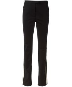 Red Valentino | Striped Side Slim-Fit Trousers 40 Cotton/Spandex/Elastane/Silk/Polyester