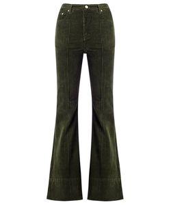 Amapô | High Waist Velvet Flared Trousers Size 38