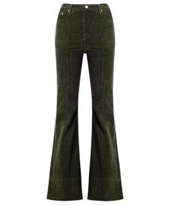 Amapô | High Waist Velvet Flared Trousers