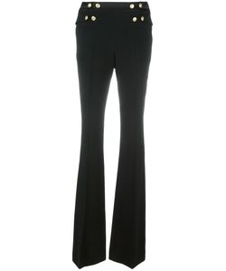 Pierre Balmain | Buttoned High-Waisted Trousers 42 Viscose/Spandex/Elastane/Polyester