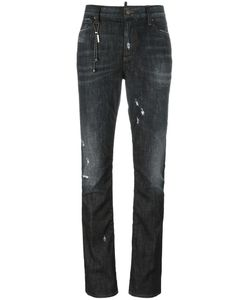 Dsquared2 | Los Angeles Chain Trim Jeans 40 Cotton/Spandex/Elastane/Polyester