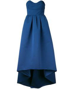 Paule Ka   Strapless High Low Woven Dress