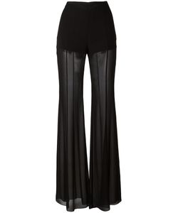 Alberta Ferretti | Sheer Fla Trousers 44 Silk/Acetate/Other Fibers