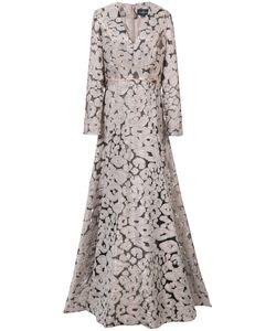 J. Mendel | Платье С Леопардовым Узором И V-Образным Вырезом