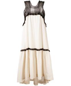 Veronique Branquinho   Свободное Платье С Кружевной Вставкой