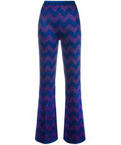 Missoni | Zigzag Intarsia Trousers 44 Polyester/Rayon/Viscose