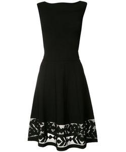 D.exterior | Sheer Panel Flared Dress Xl