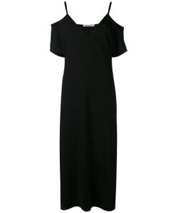 T By Alexander Wang | Lux Ponte Cold-Shoulder Midi Dress