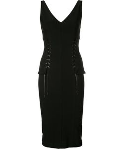 Yigal Azrouel | Lace Up Bustier Dress 6 Spandex/Elastane/Viscose/Polyimide