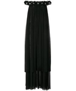 Huishan Zhang | Bead Embellished Off-Shoulder Gown