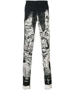 Alexander McQueen | Брюки С Черно-Белым Рисунком
