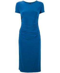 Norma Kamali   Shirred Waist Shortsleeved Dress Size Small