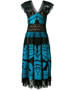 Alberta Ferretti | Длинное Платье С Контрастными Панелями