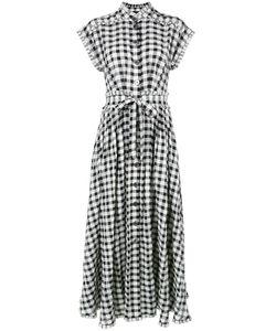 ROSSELLA JARDINI | Checked Midi Dress Size 44 Cotton/Lyocell/Linen/Flax