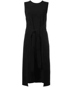 Theory | Tie-Waist Midi Dress 8 Polyester/Triacetate