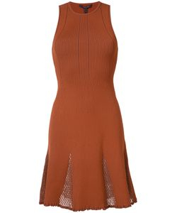 Derek Lam | Mesh-Panelled Ribeed-Knit Dress
