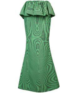 Mary Katrantzou | Moire Peplum Maxi Shirt