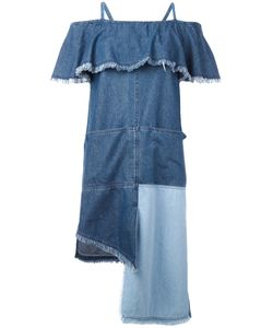 Steve J & Yoni P | Patchwork Ruffled Dress