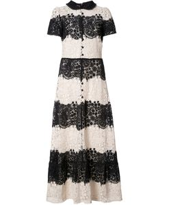 Red Valentino | Buttoned Lace Dress 44 Cotton