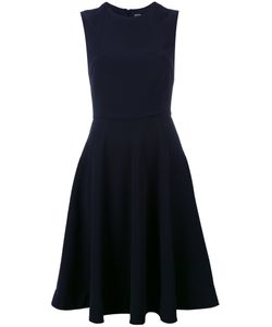 Jil Sander Navy | Fitted Bodice Dress Size 36 Polyester/Acetate/Cupro